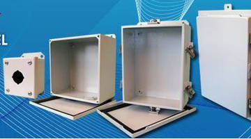 Full Line of Painted Steel NEMA 4 & 12 Enclosures Ranging from Wall-Mount to Double Door