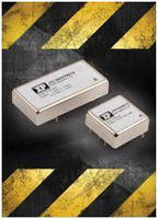 Converters cover nominal input voltages of 12, 24 or 48 Vdc.