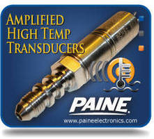 High Temperature/Pressure Transducers offer amplified output.