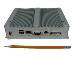 Palmsized Fanless Computer weighs 4 lb.