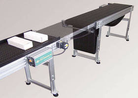 Conveyor System features walk-through sliding gate mechanism.