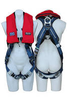 Safety Harness features built-in personal flotation device.