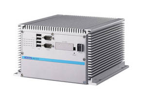 Fanless Box PC features redundant Ethernet and RAID 0/1 support.