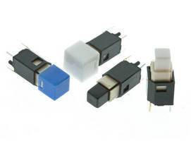 Illuminated Pushbutton Switches offer custom cap options.