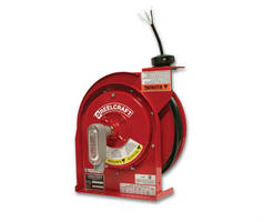 Flying Lead Cord Reel features cam latching system.