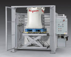 Sanitary Bulk Bag Conditioner loosens solids before discharge.