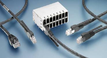 Ethernet Connector System doubles port density of RJ 45 link.