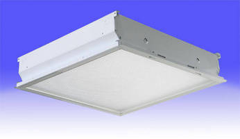 LED Ceiling Luminaires replace T-bar fluorescent fixtures.