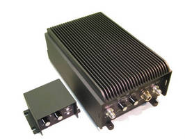 Tactical Radio Booster Amplifier delivers 75 W across 30-512 MHz band.