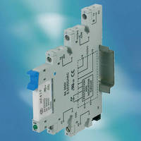 DIN Rail Mountable PLC Pluggable Relay measures 6.2 mm wide.