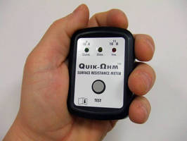 Surface Resistance Meter has pocket-sized design.