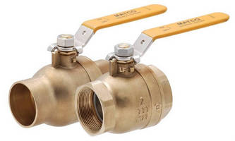 Ball Valves are offered in lead free and standard versions.