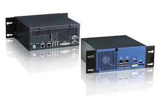 Box PC has front and rear interfaces to simplify cabling.