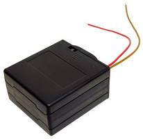 Battery Holder comes with sliding covers and switch.