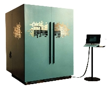 EDM Machine achieves cutting speeds of 28 sq in./hour.