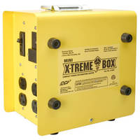 Portable Power Distribution Box offers 125 V of power.