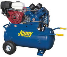 Portable Gas-Powered Compressor comes with high volume pump.