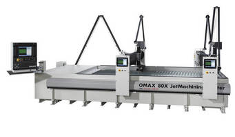 OMAX® Releases Dual Bridge System for Large-Table JetMachining® Centers
