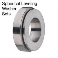 Spherical Leveling Washers accommodate M6 to M35 bolts sizes.