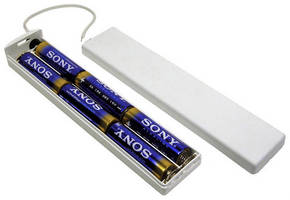 Enclosed AA Battery Holder has wall-PCB-chassis mounting option.