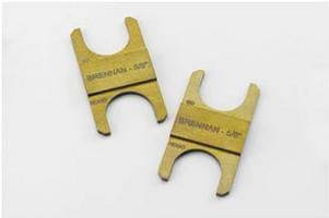 Gap Inspection Gages are constructed of carbon steel.