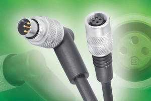 Unshielded M9 Cordsets provide IP67 rated connection.