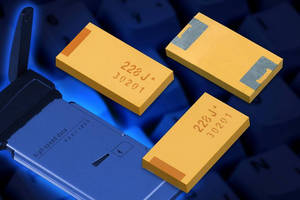 High Capacitance Tantalum Capacitors have low profile design.