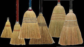 Natural Corn Brooms are offered in various sizes.