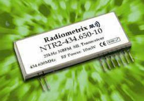 UHF Narrowband Transceiver supports data rates up to 10 kbps.