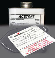 Computer Imprintable Labels are acetone resistant.
