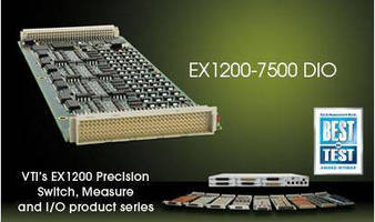 Digital I/O Module has 64 channels in 8 port configuration.