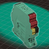 AS-Interface Module features 4 inputs and 4 relay outputs.