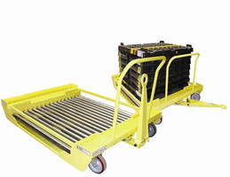 Industrial Roller Deck Cart tows up to 2,000 lb loads.