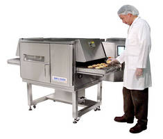 Compact Impingement Oven cooks quickly and uniformly.
