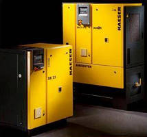 Rotary Screw Compressors feature refrigerated dryers.