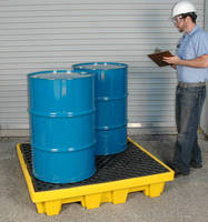 Spill Pallet has low profile, nestable design.