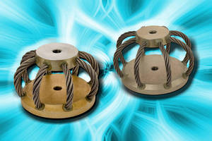 Circular Wire Rope Isolators feature low profile design.