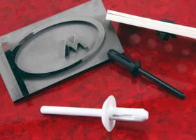 Plastic Blind Rivets are non-conductive and non-corrosive.