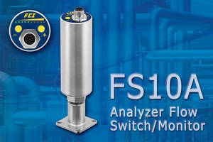 FS10A Analyzer Flow Switch/Monitor with SP76 Adapter for NeSSI Systems