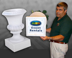 Event Décor Manufacturer Offers Permanent Logos, Tracking Numbers on Arches, Columns, Pedestals to Aid Security