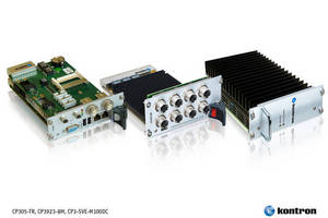 Kontron Introduces New 3U CompactPCI Building Blocks Dedicated to Rolling-Stock and Rugged in-Vehicle Applications