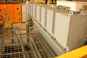 Galvanising Weld Fumes Contained on Large Scale Mesh Machine