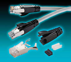Modular Shielded Plugs are designed for CAT6a patch cables.