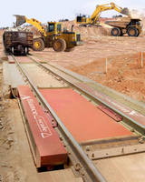 Railroad Track Scales can weigh loads up to 170 tons.