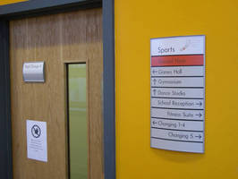 Vista System's Easily Updateable Directory Frames and Door Signs Were Recently Installed in the Newly Built Inverclyde Academy in Greenock, Scotland