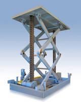 Large Mechanical Scissor Lift Platform Provided by Serapid, Inc for Satellite Simulator