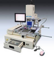 Manncorp's Split-Vision Rework Station Has Auto Removal/Placement Head, for BGAs and QFPs