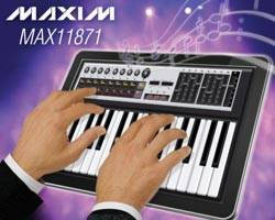 Maxim Extends TacTouch(TM) Family with 4- and 10-Finger Multitouch Capacitive Touch-screen ICs