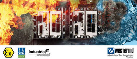 Westermo Devices Comply with ATEX, DNV, Industrial IT, UL and CSA Specifications