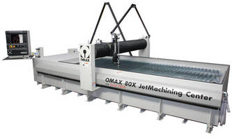 OMAX® to Spotlight 80X JetMachining® Center with Advanced Accessories at CMTS
